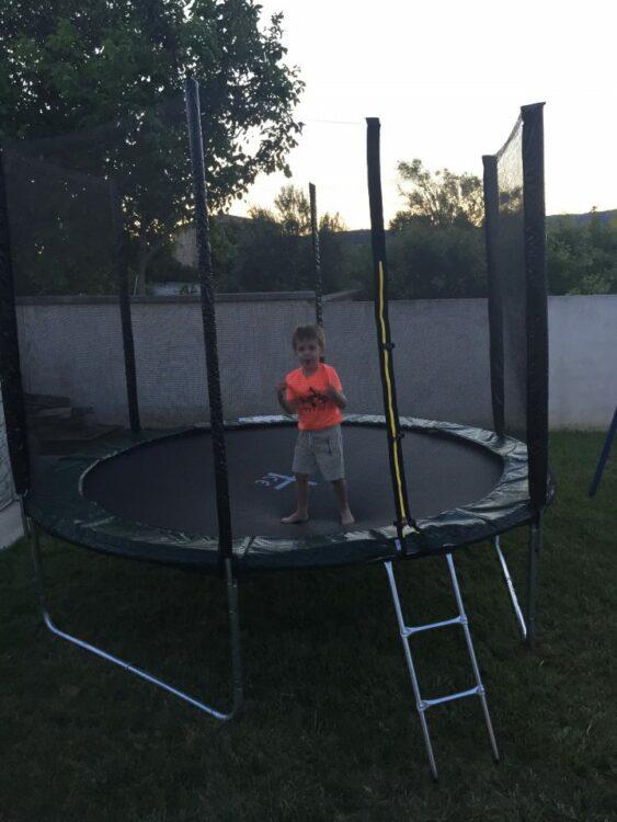 trampoline chez papi