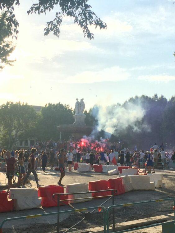 vacances d'été-fontaine Aix coupe monde