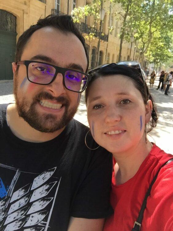 vacances d'été-maquillage couple coupe du monde
