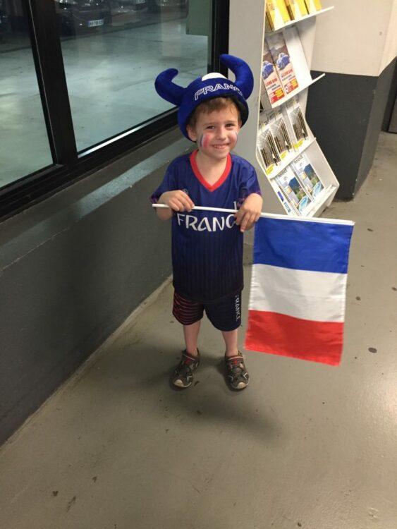 vacances d'été-maquillage enfant coupe du monde