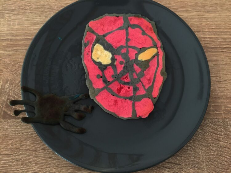 Spiderman pancake art