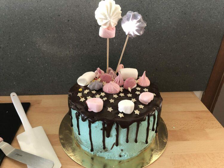 Drip cake décoré